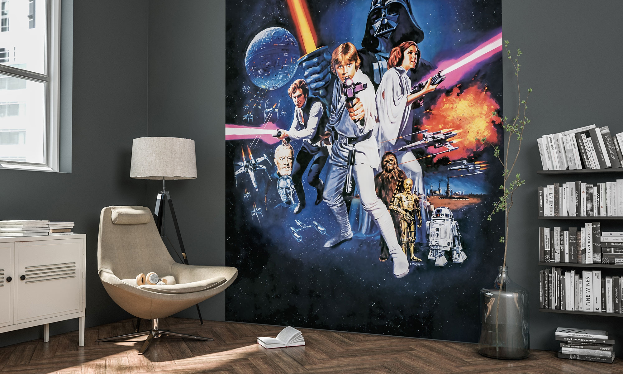 Non Woven Photomural Star Wars Poster Classic 1 026 Dvd2 From Komar Star Wars