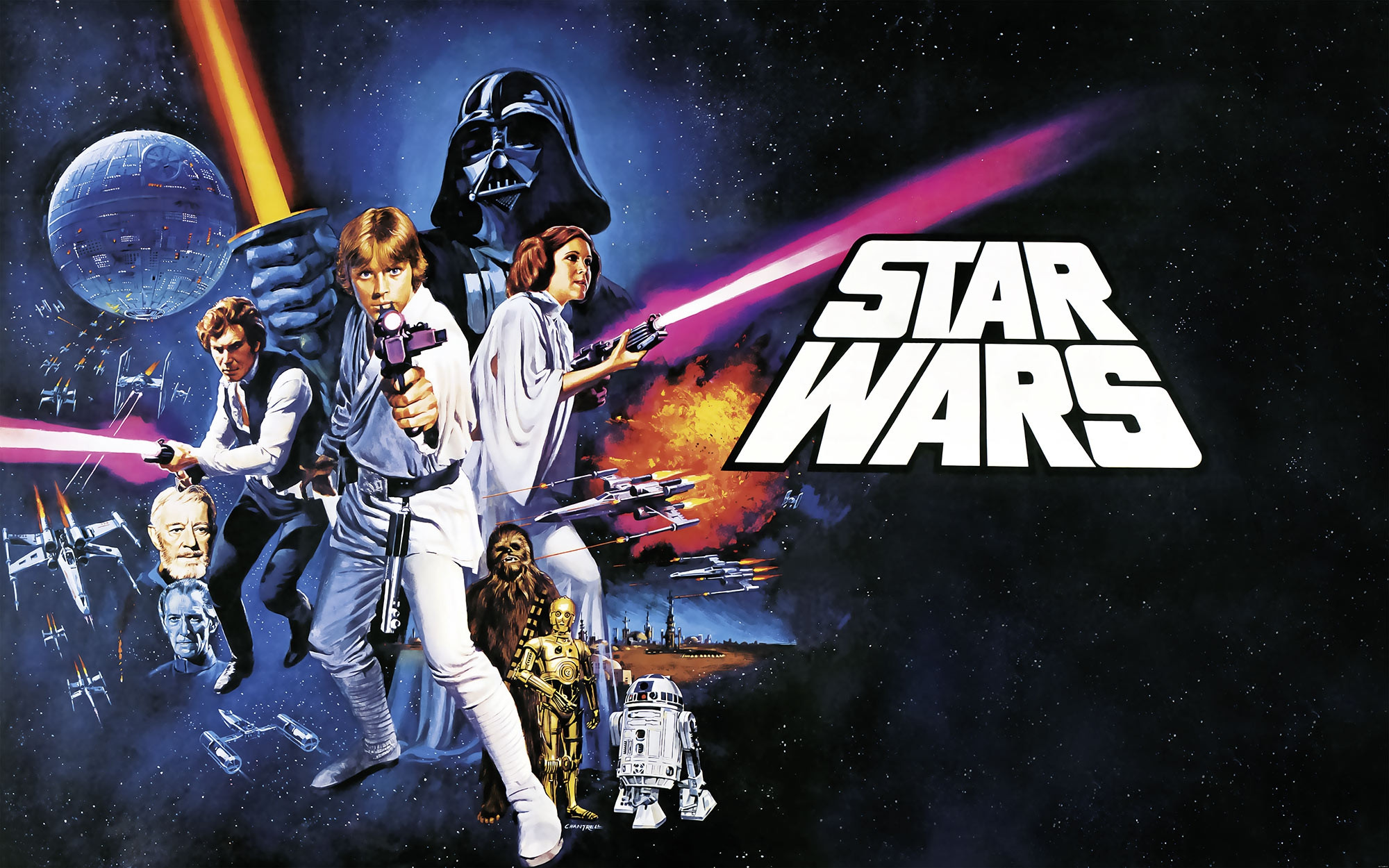 Non Woven Photomural Star Wars Poster Classic 1 026 Dvd4 From Komar Star Wars