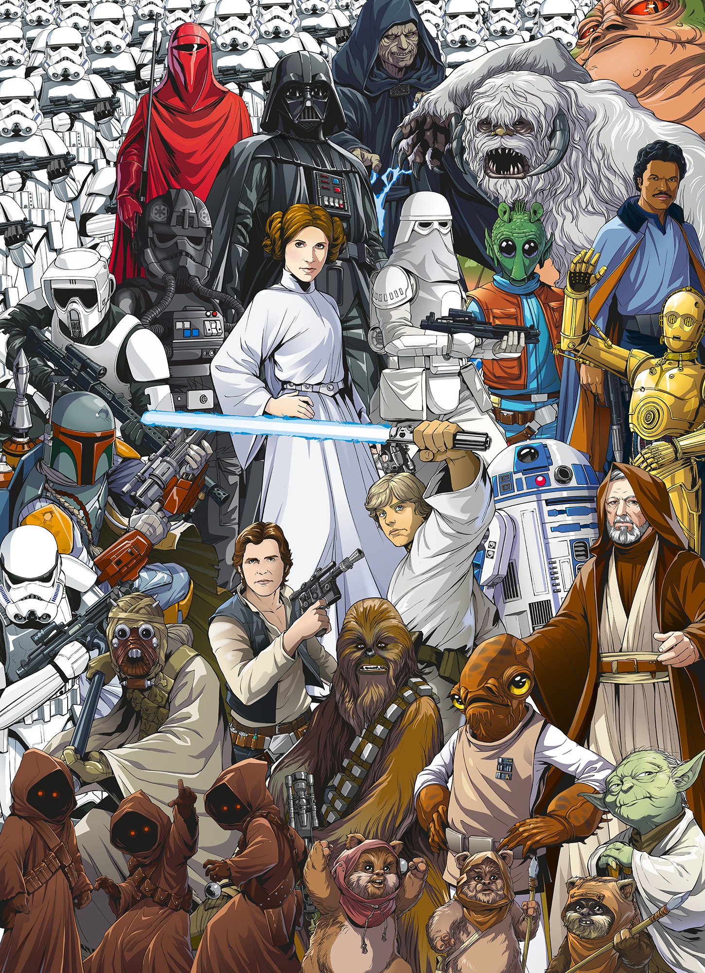 Photomural Star Wars Classic Cartoon Collage 4 4111 From