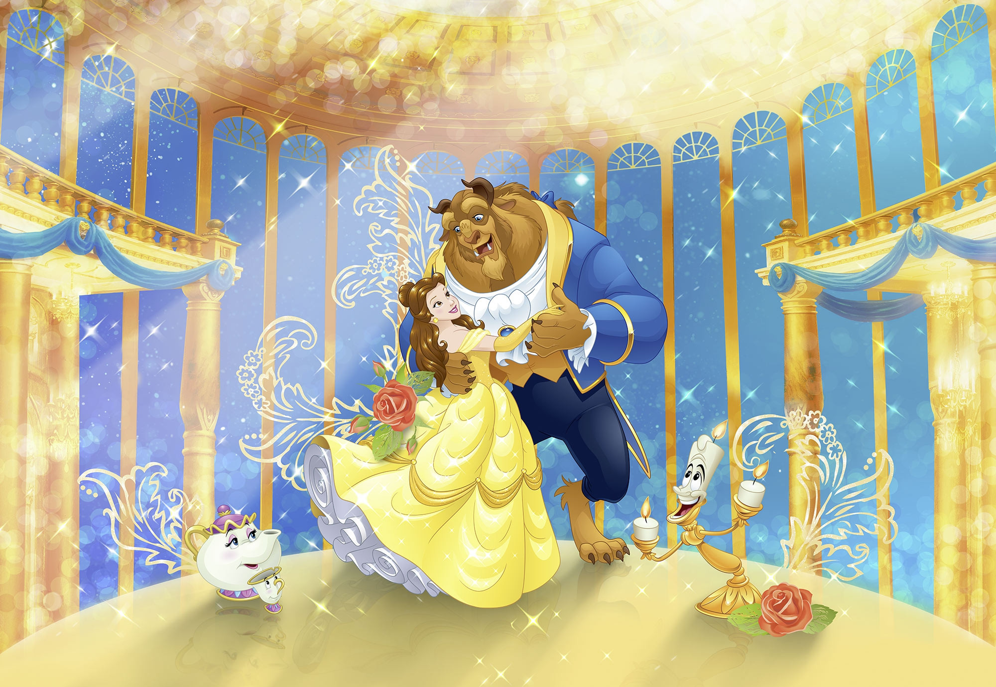 Photomural Beauty And The Beast 8 4022 From Komar Disney