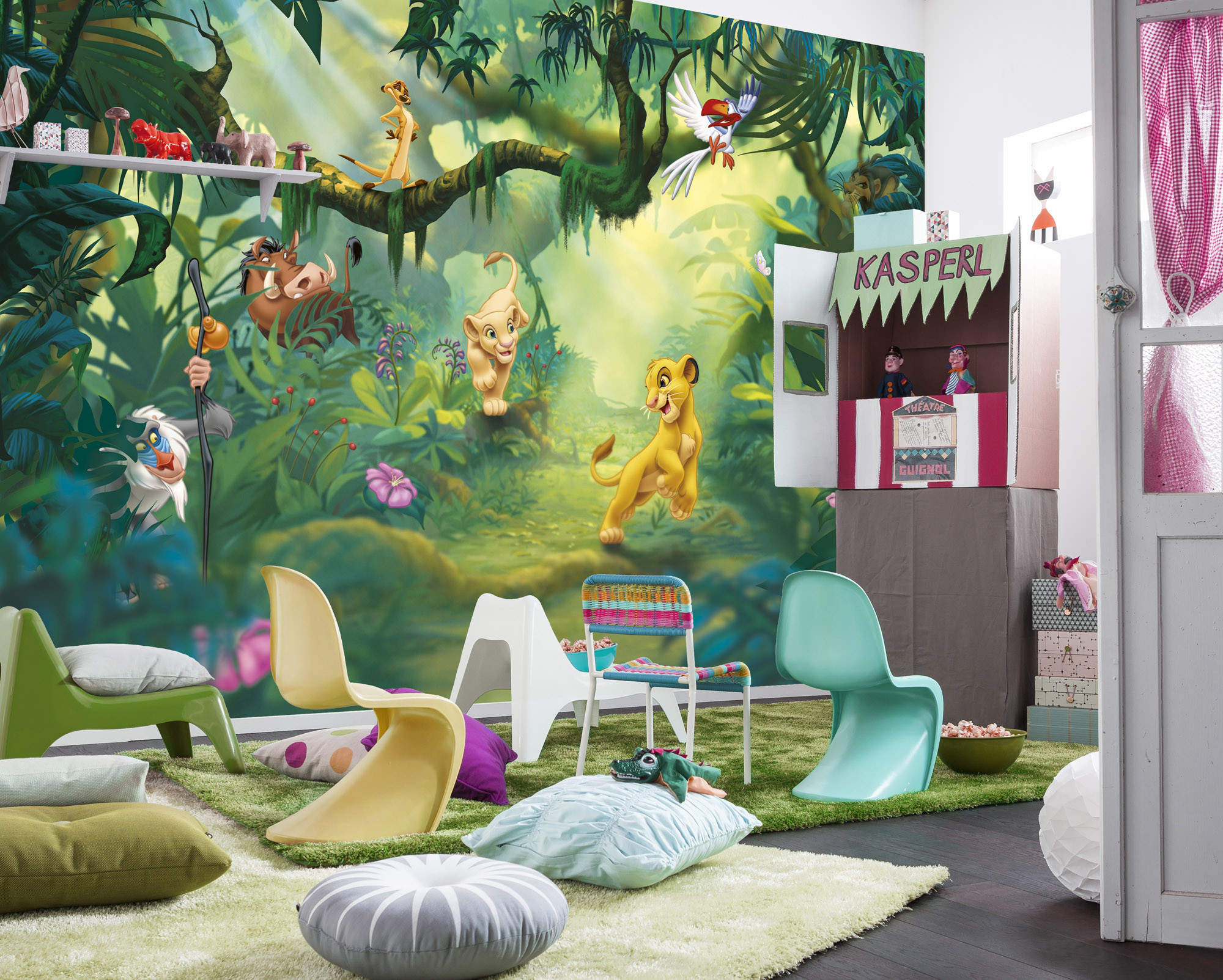 wall mural lion king jungle