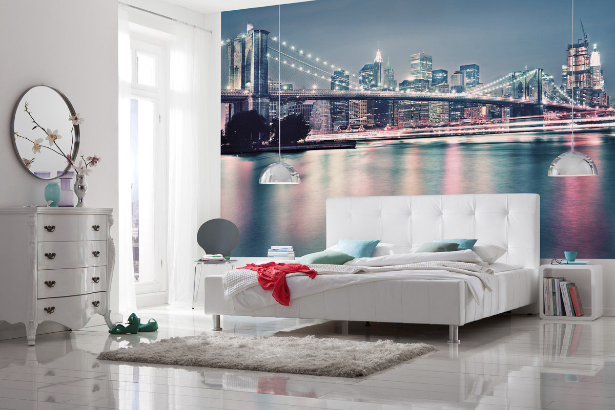 wall mural neon from komar. Black Bedroom Furniture Sets. Home Design Ideas