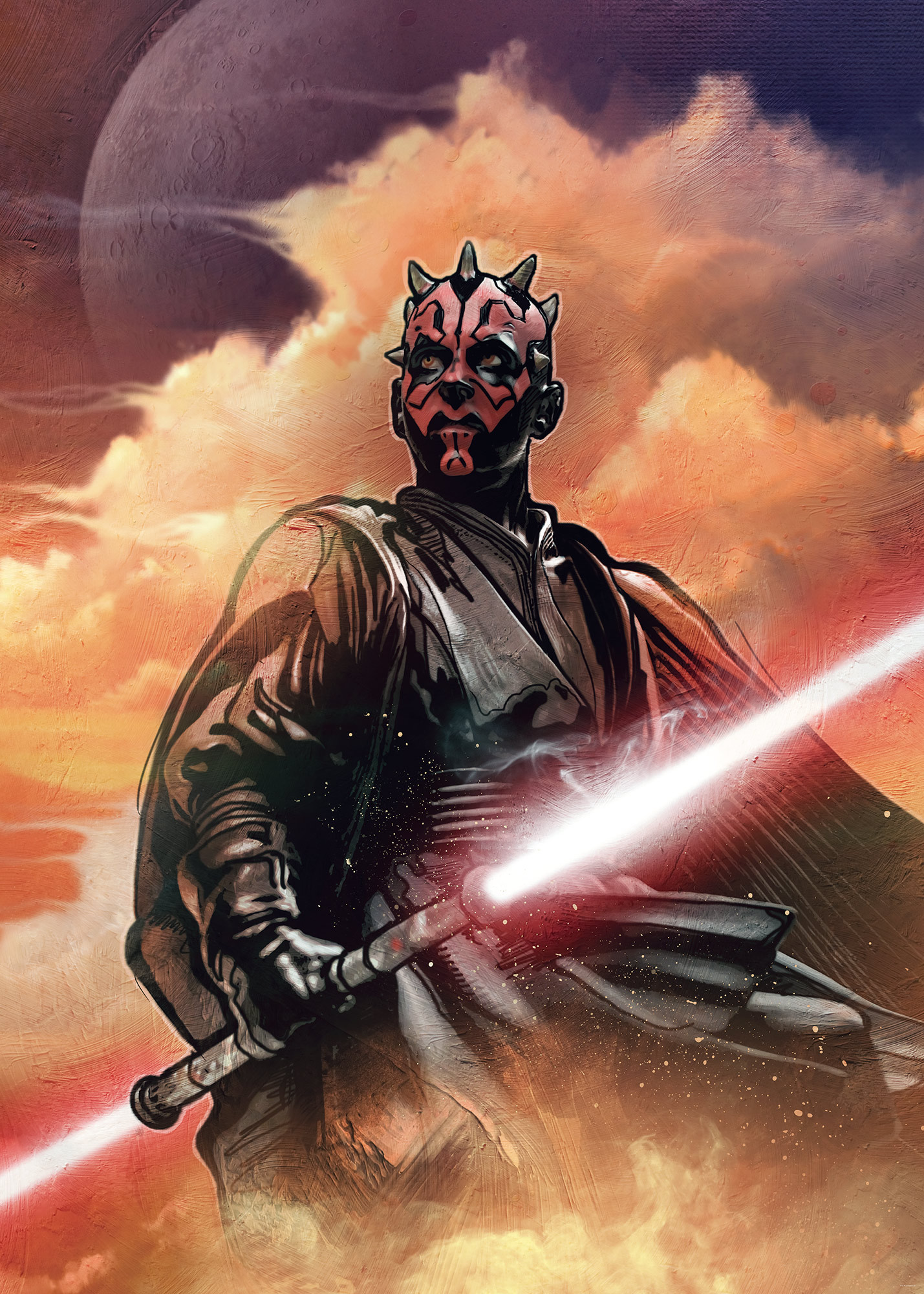 Non Woven Photomural Star Wars Classic Darth Maul Dx4 041 From