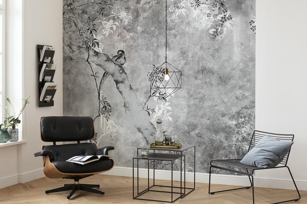 Grey photomurals – a calming influence on your wall