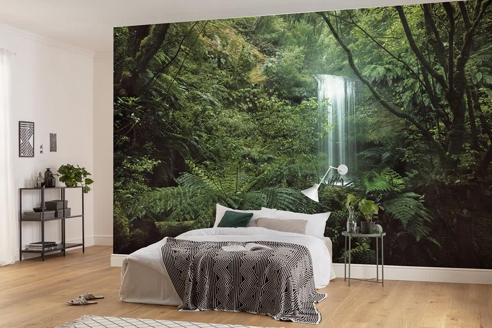 Photomurals in green – a boost of freshness for the living room