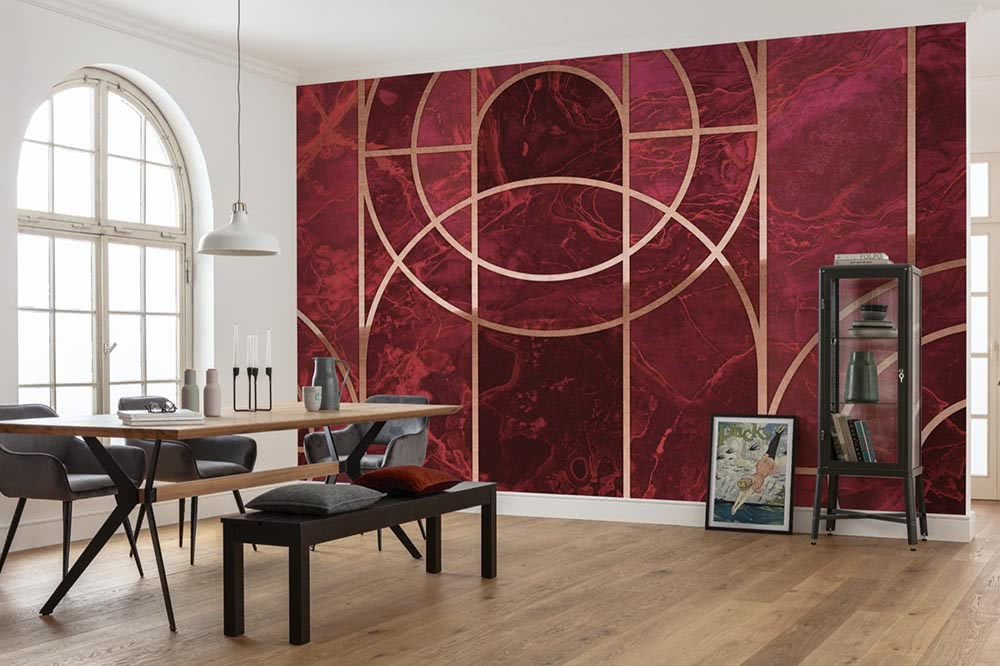 Photomurals in red – a wall design with passion