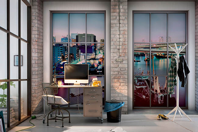 View through the window – Create a wall with a view