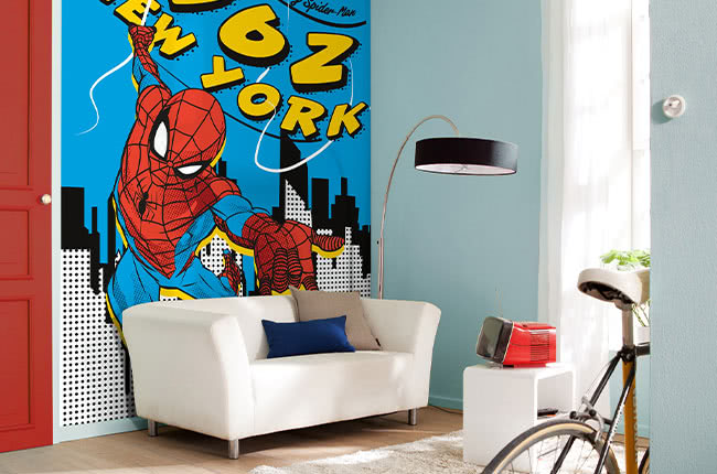 Marvel Comics photomurals – living with heroes