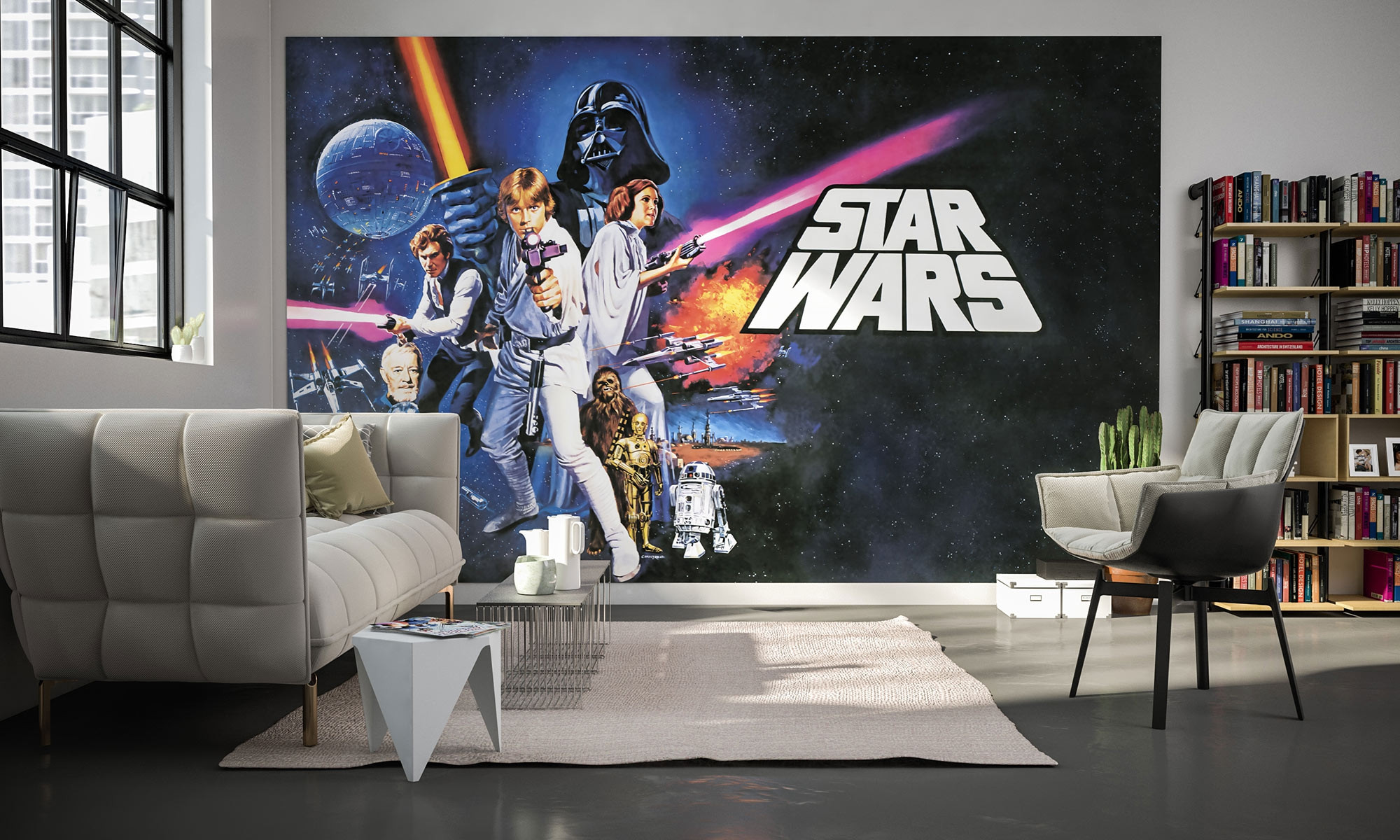 poster xxl panoramique intiss star wars poster classic 1 026 dvd4 de komar star wars. Black Bedroom Furniture Sets. Home Design Ideas