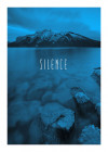 Word Lake Silence Blue