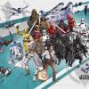 Star Wars Cartoon Collage Wide
