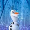 Frozen Olaf Crystal