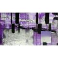 Squares Dropping grau-violett