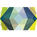 Gem Stone Kite petrol-bleu-yellow