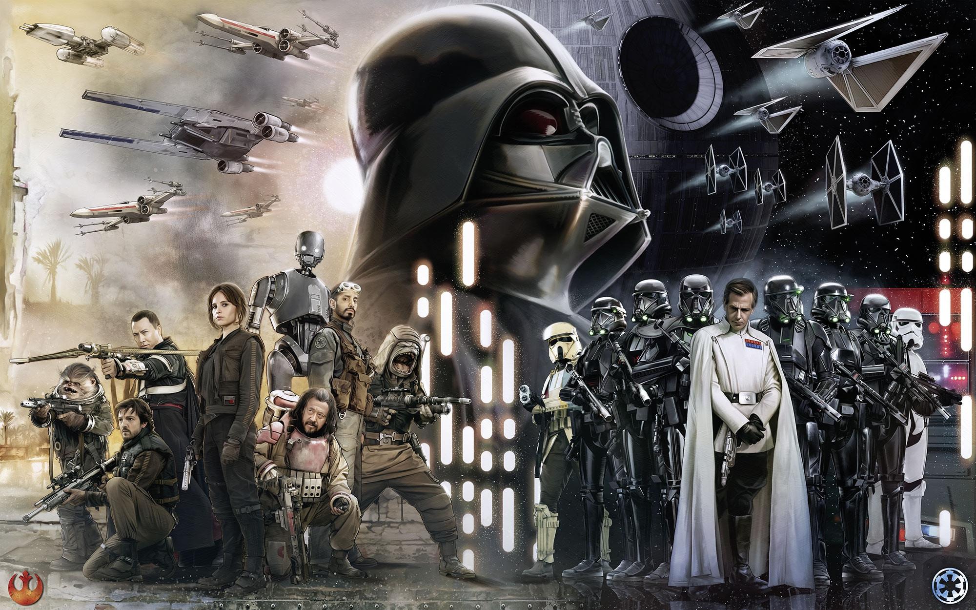 Vliestapete Star Wars Collage 028 Dvd4 Von Komar Star Wars