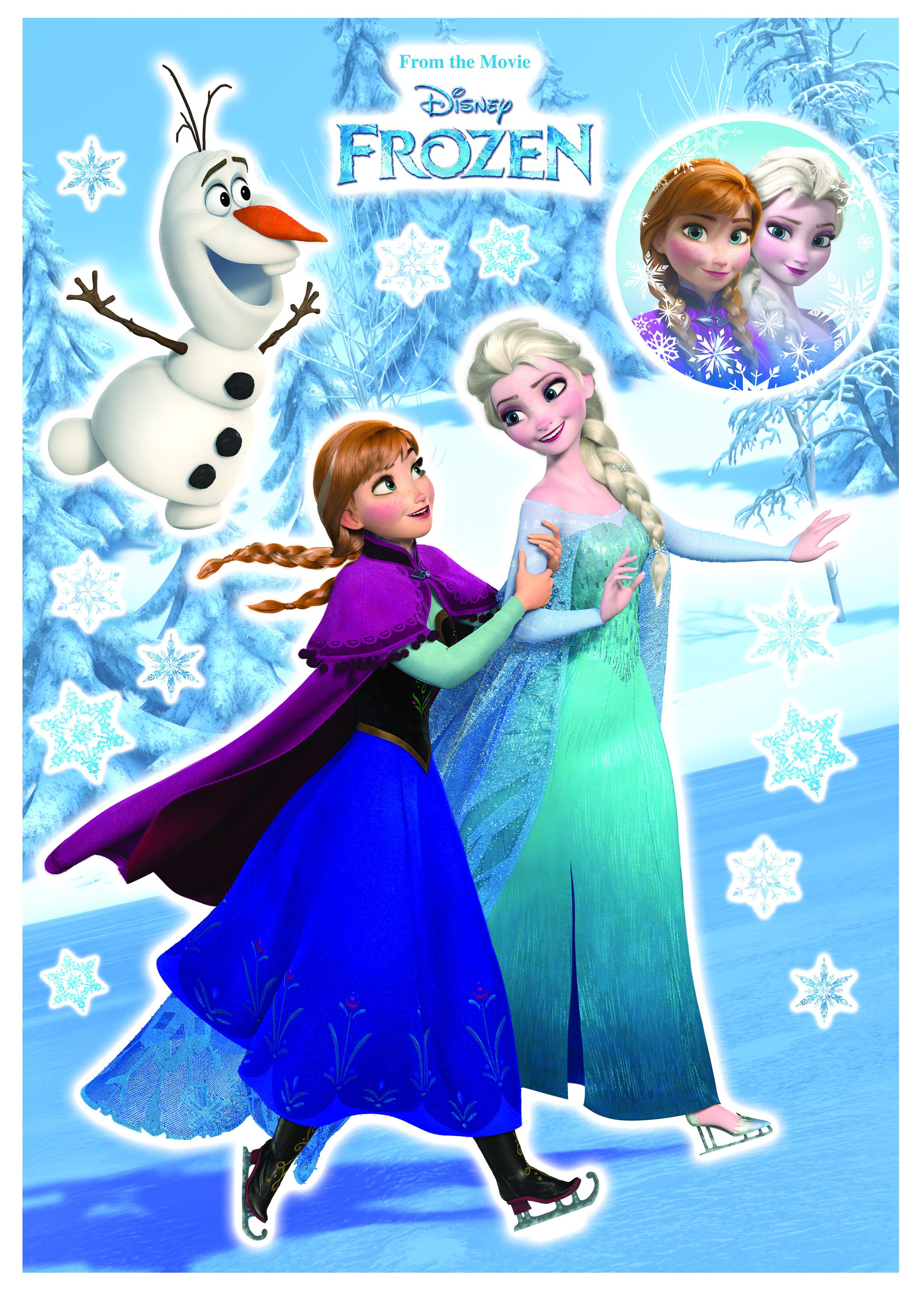 Wandsticker Anna und Elsa