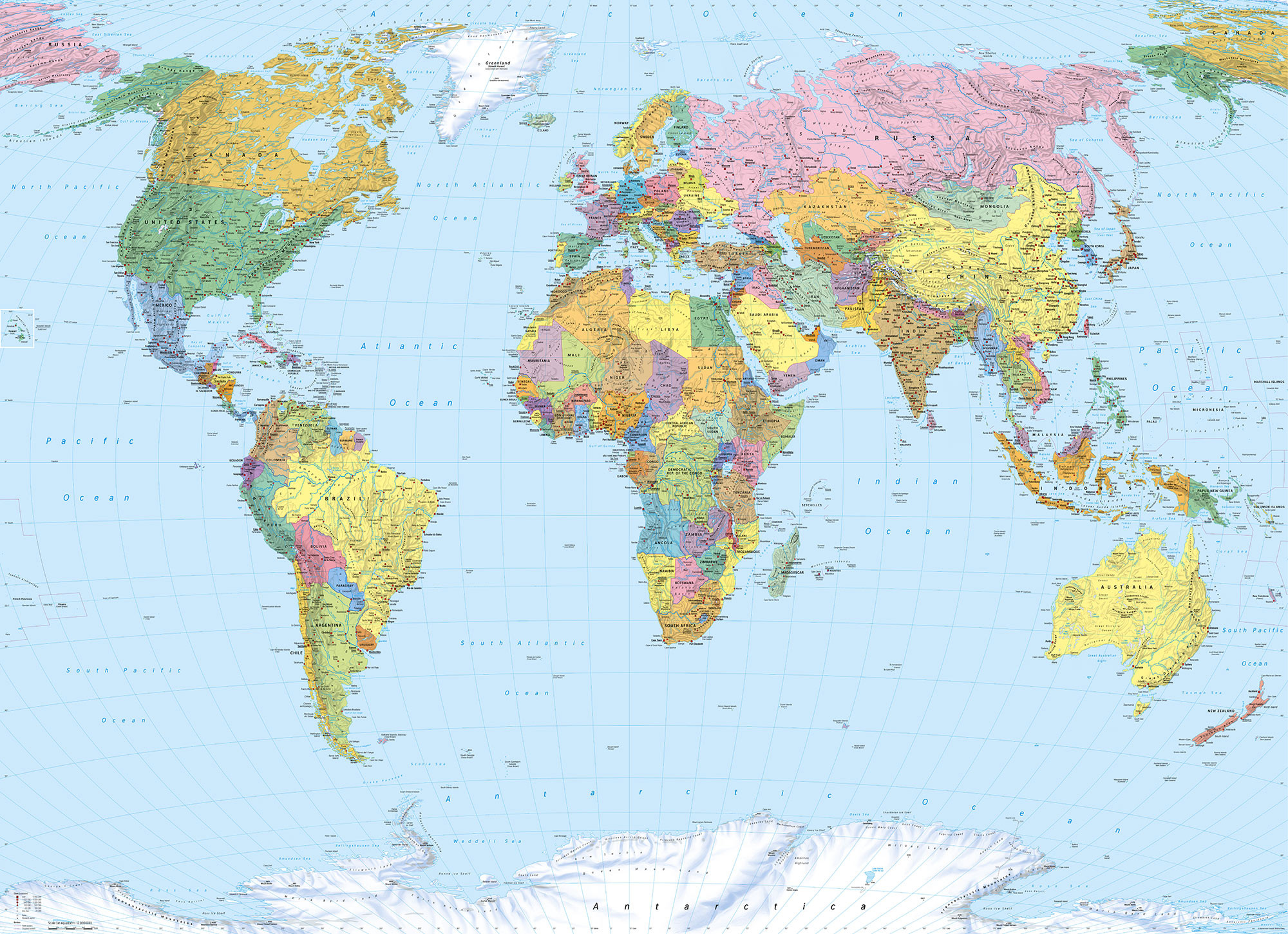 Fototapete World Map