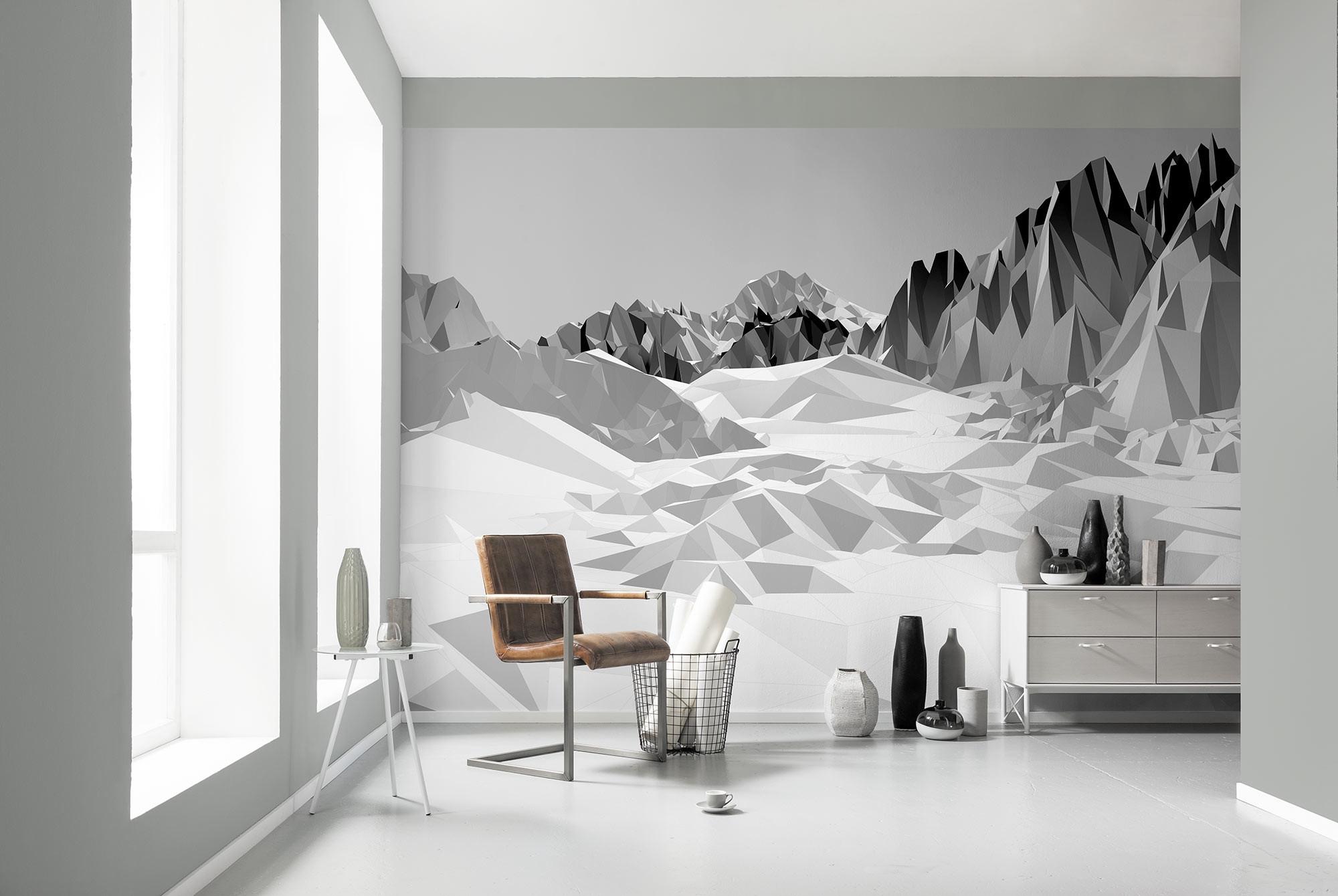 fototapete ?icefields? (8-208) von komar - Fototapete Wohnzimmer Schwarz Weiss