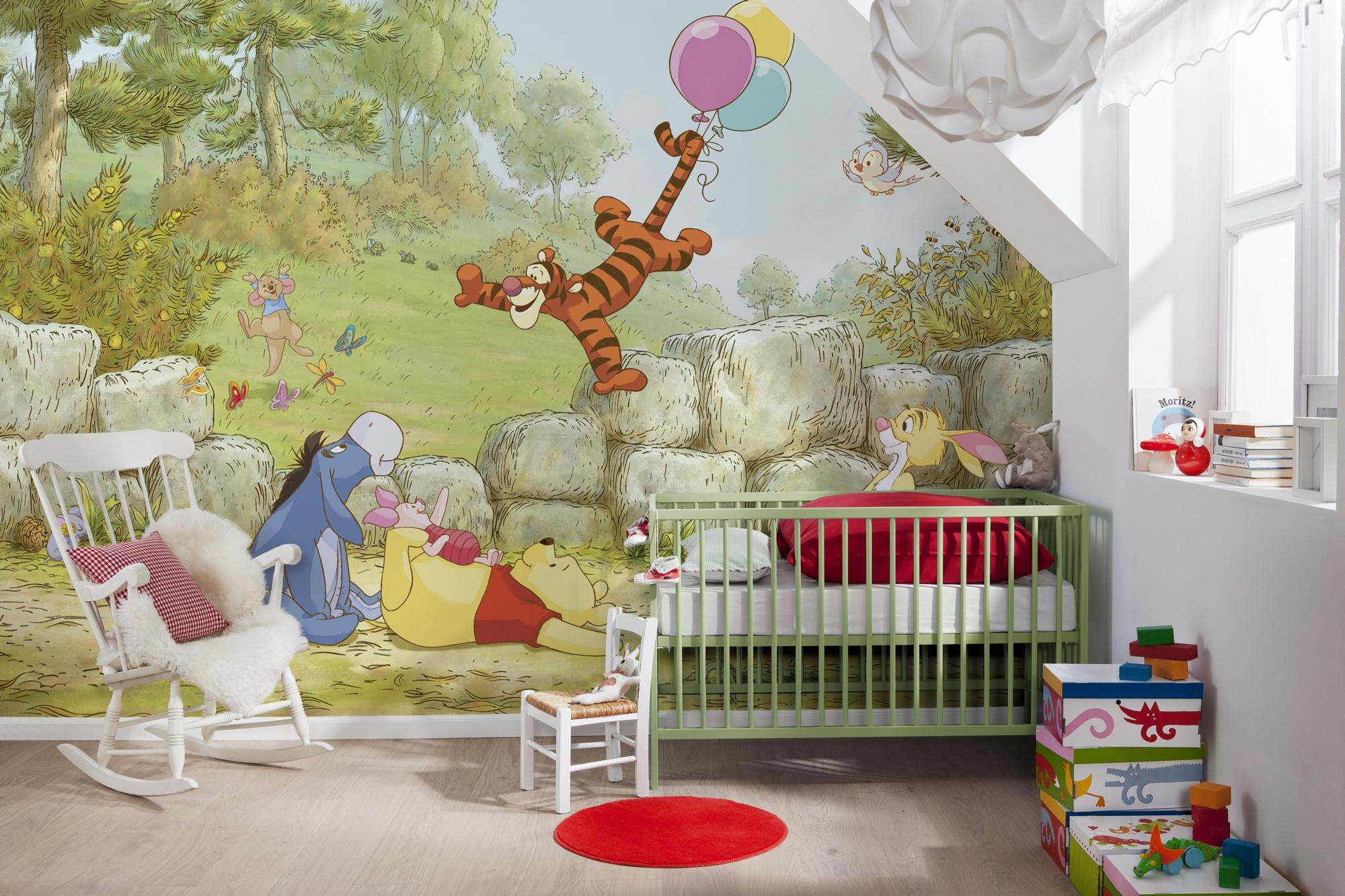 fototapete winnie pooh ballooning von komar disney. Black Bedroom Furniture Sets. Home Design Ideas