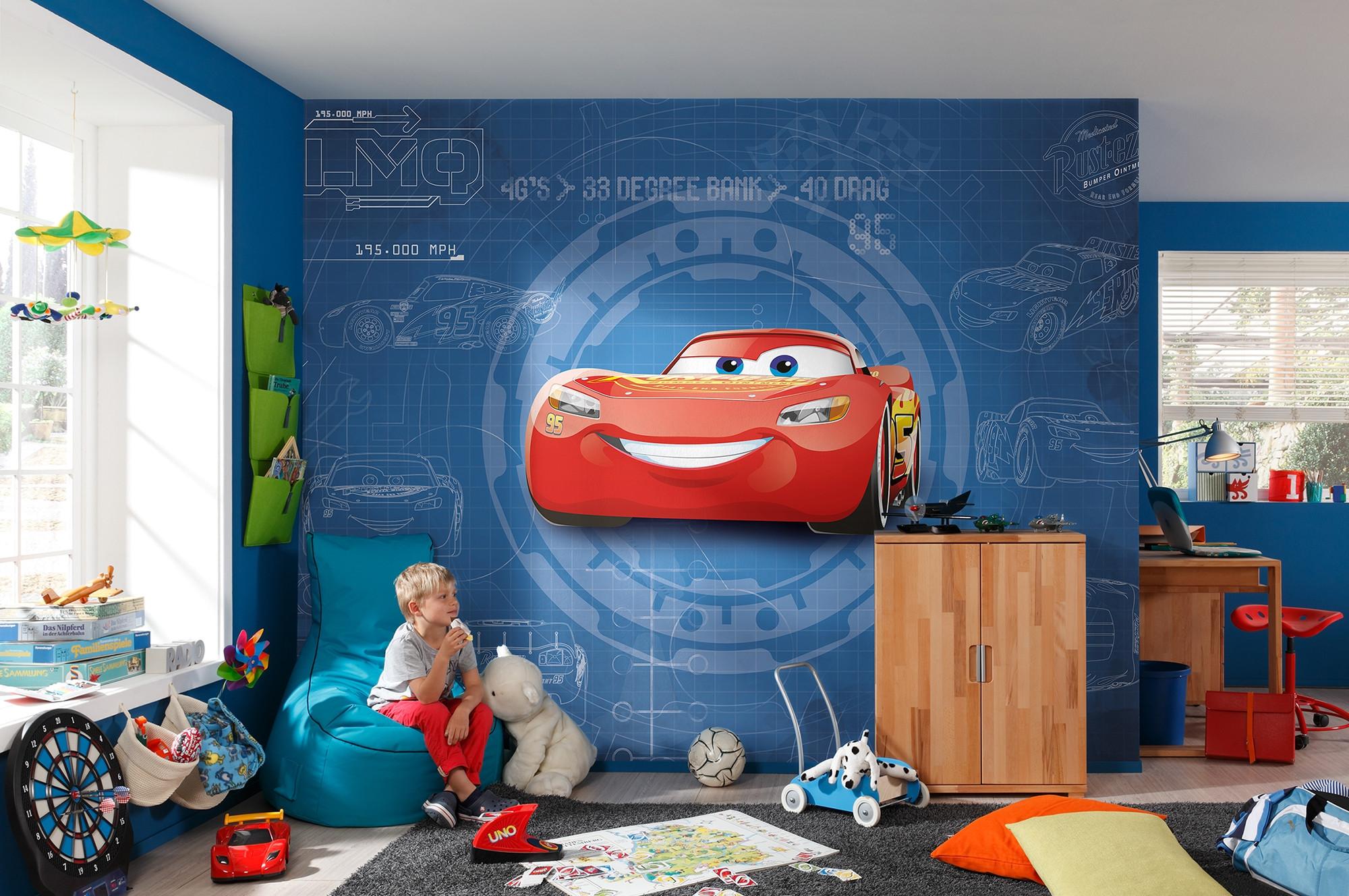 "Fototapete ""Cars3 Blueprint"" (8-488) von Komar   Disney"