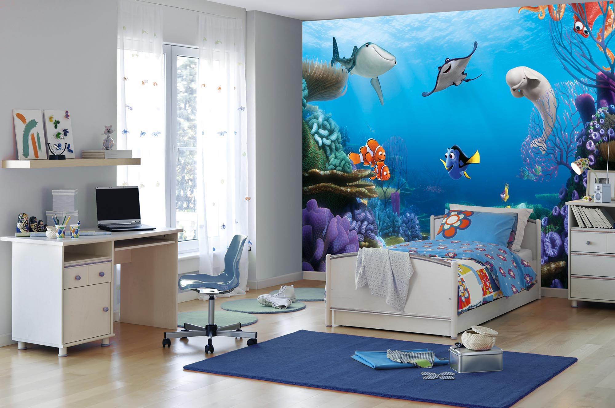 fototapete finding dory von komar disney. Black Bedroom Furniture Sets. Home Design Ideas
