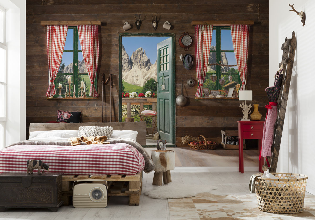 fototapete dolomiti von komar. Black Bedroom Furniture Sets. Home Design Ideas