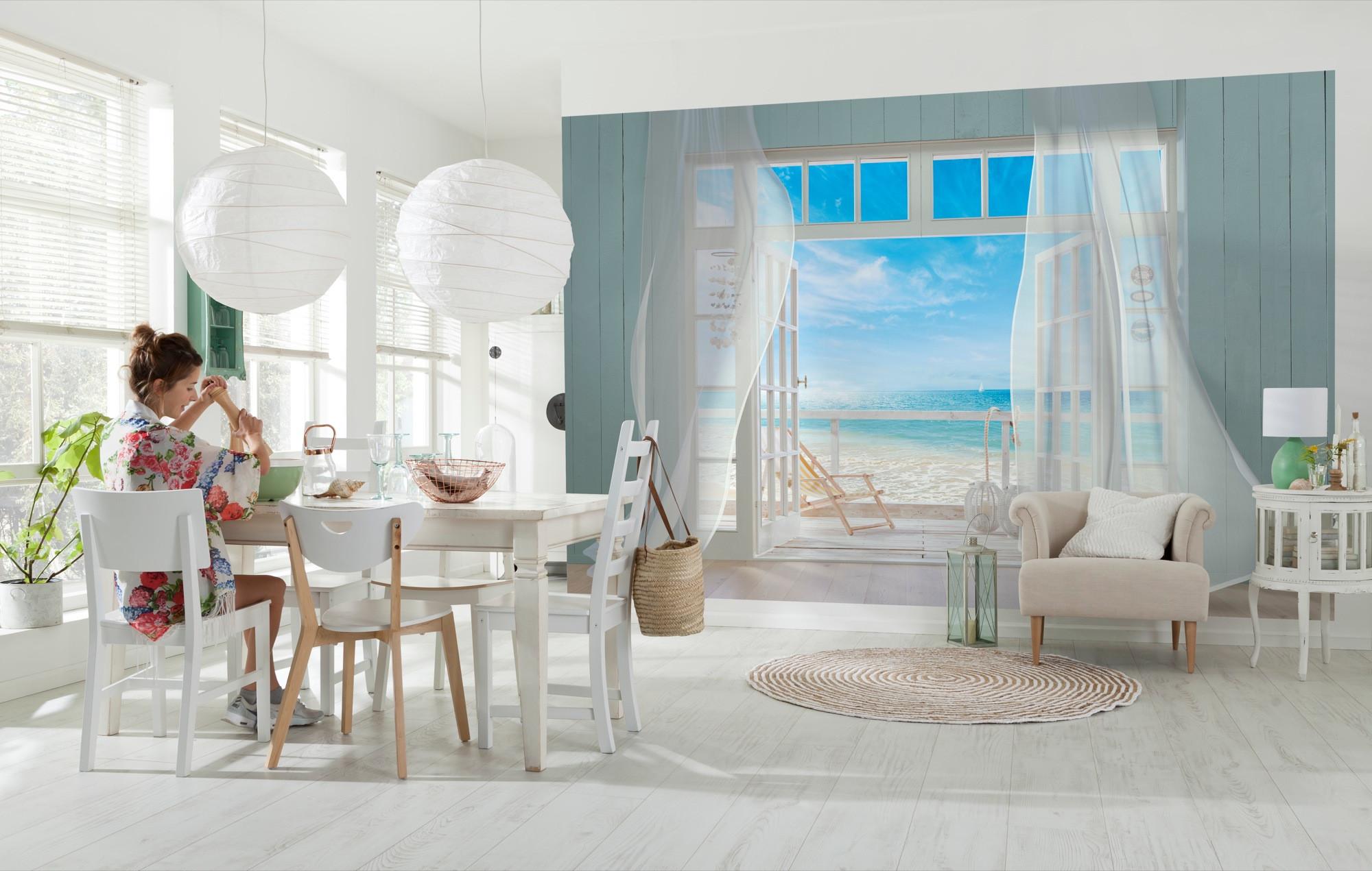 fototapete malibu von komar. Black Bedroom Furniture Sets. Home Design Ideas