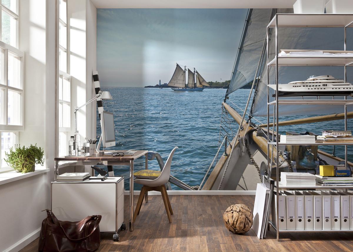 fototapete sailing von komar national geographic. Black Bedroom Furniture Sets. Home Design Ideas