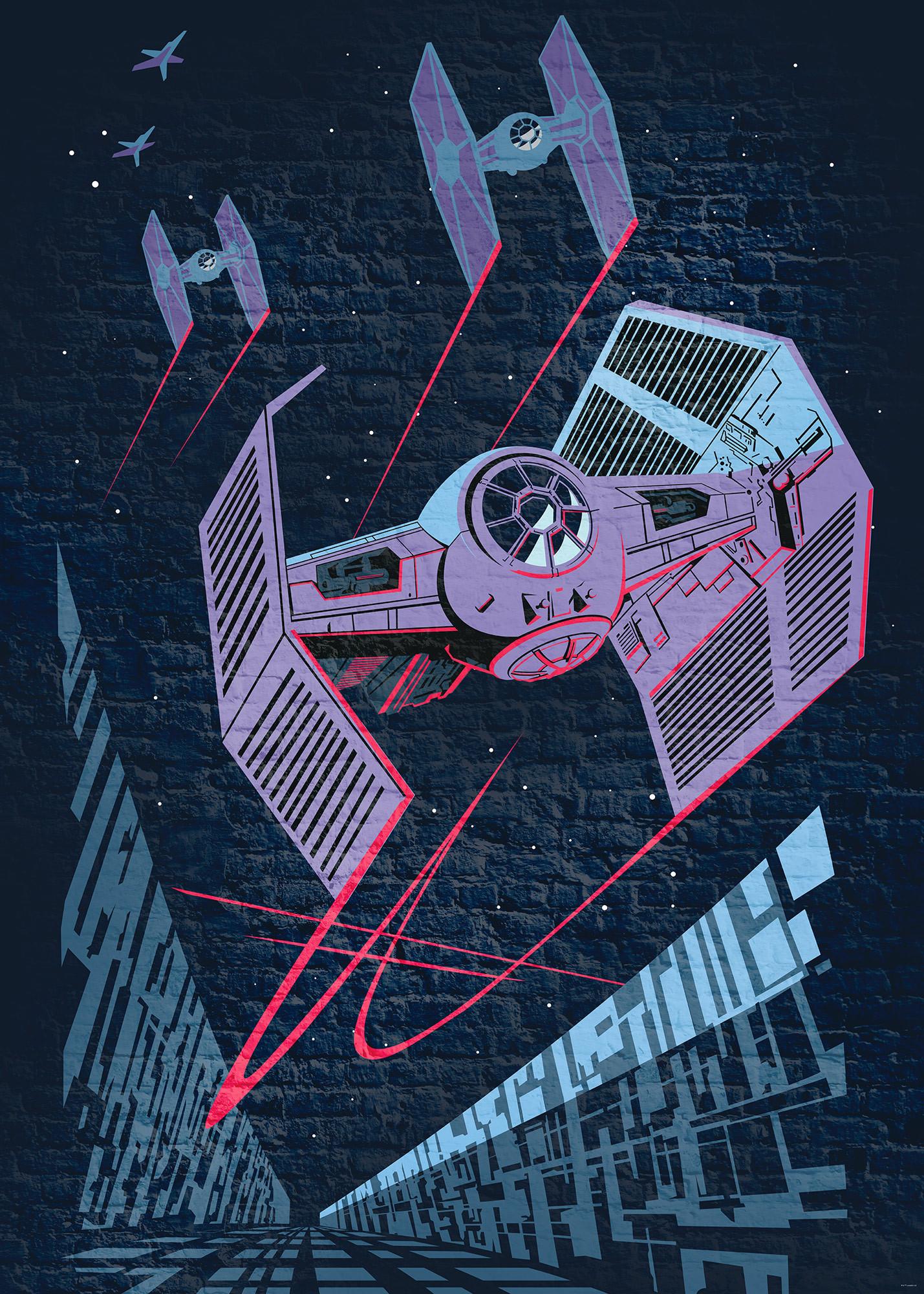Vliestapete Star Wars Classic Concrete Tie Fighter Dx4 038