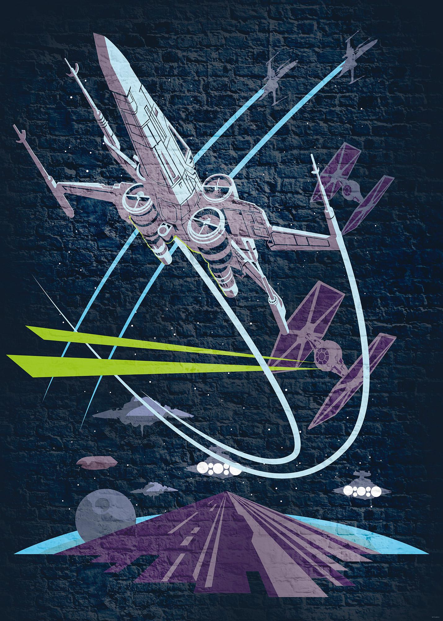 Vliestapete Star Wars Classic Concrete X Wing Dx4 039 Von