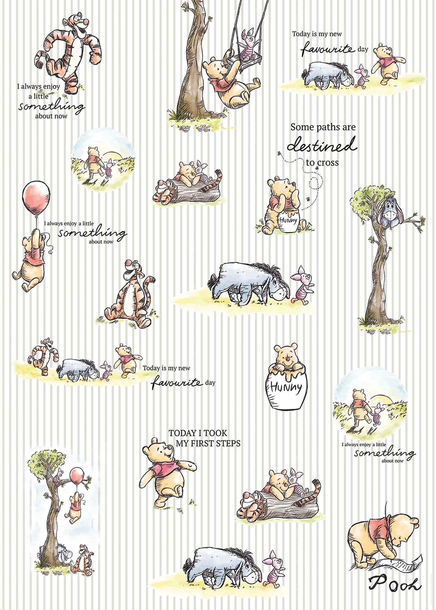 Vliestapete Winnie Pooh Stripes Dx4 001 Von Komar Disney