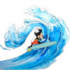Mickey Surfing