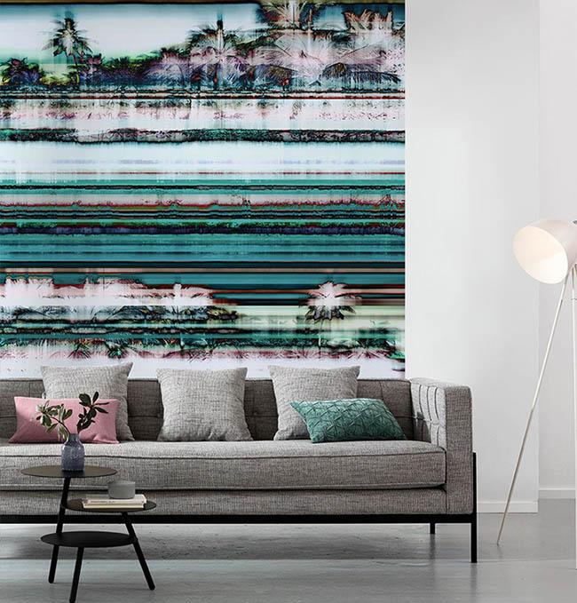 Collagen und Muster Tapeten – kunstvolle Wohnraumgestaltung
