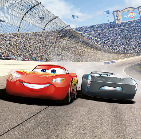 Komar Fototapete Disney Cars Lightning McQueen Jackson Storm