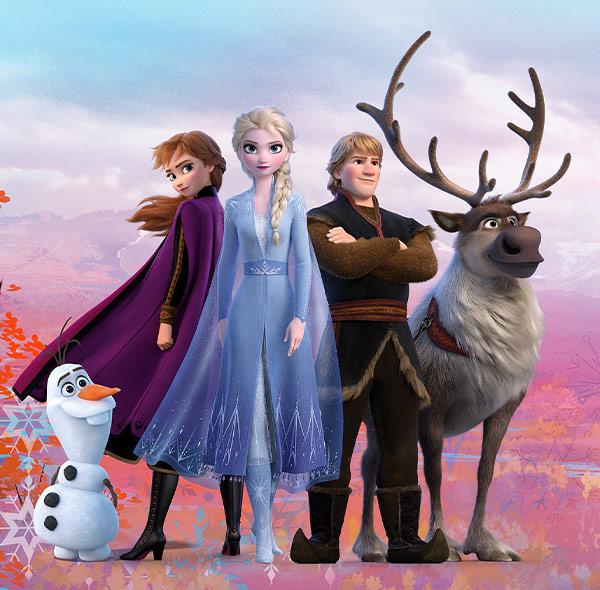 Komar Fototapete Disney Frozen 2 Gruppenbild Olaf Anna Elsa Kristoff Sven