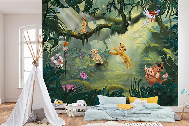 König der Löwen Fototapete - Königlicher Besuch im Kinderzimmer