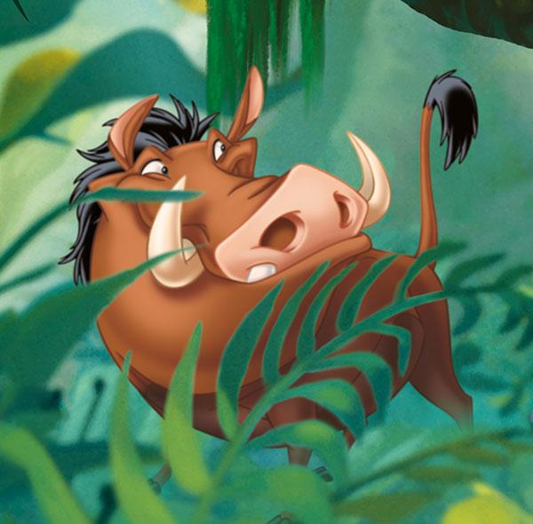 Komar Fototapete Disney der König der Löwen Pumbaa