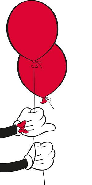 Komar Fototapete Disney Micky Maus Ballon