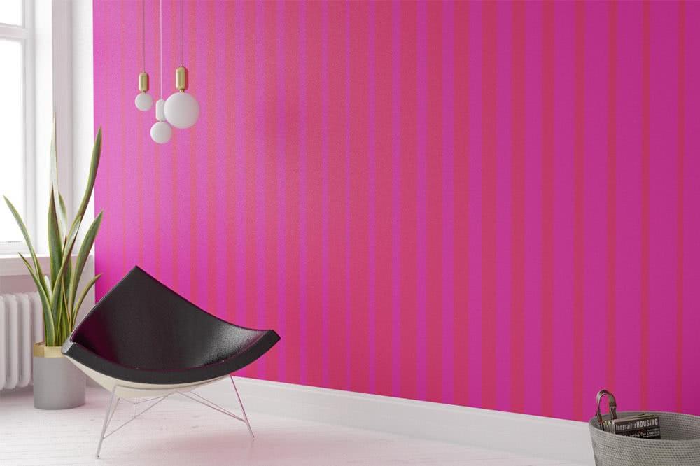 Fototapeten in Pink – Eine Party an der Wand