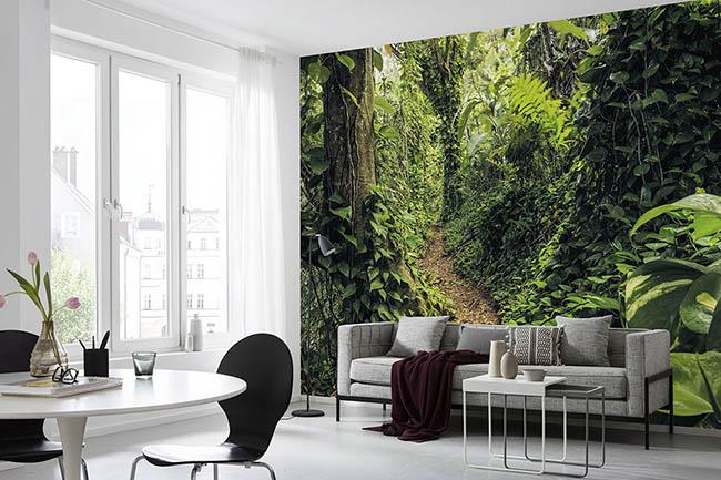 Grüntöne an der Wand: Tapeten mit Natur, Dschungel und Wäldern