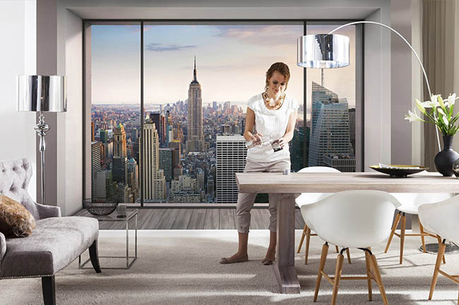 New York City: Die berühmte Skyline als Fototapete in den eigenen vier Wänden