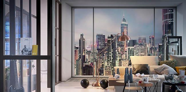 Urban Lifestyle: Fototapete mit Stadt Motiven