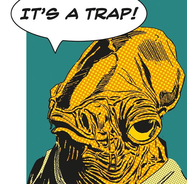 Komar Fototapete Wandbild Wanddekoration Star Wars Admiral Ackbar it is a trap