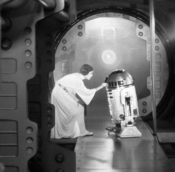 Komar Fototapete Wandbild Wanddekoration Star Wars Leia R2D2