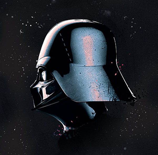 Komar Fototapete Wandbild Wanddekoration Star Wars Darth Vader Helm