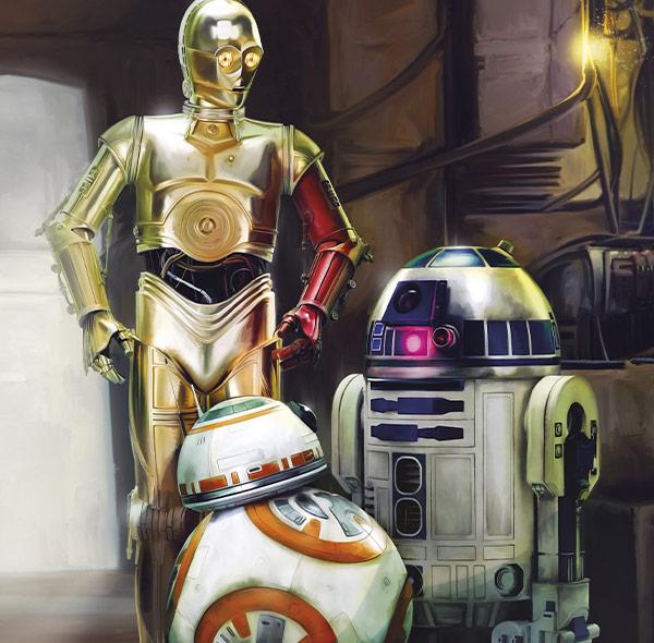 Komar Fototapete Star Wars Droiden Gruppenbild BB-8 R2D2 c3po