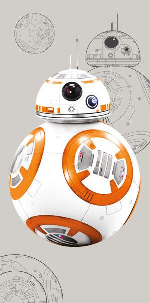 Komar Fototapete Wandbild Wanddekoration Star Wars Droide BB-8