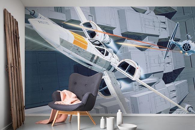 Raumschiff Fototapete - Schnellstart zum neuen Kinderzimmer