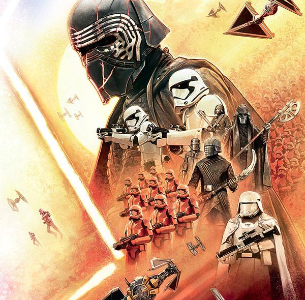 Komar Fototapete Star Wars Gruppenbild Raumschiffe Kylo Ren