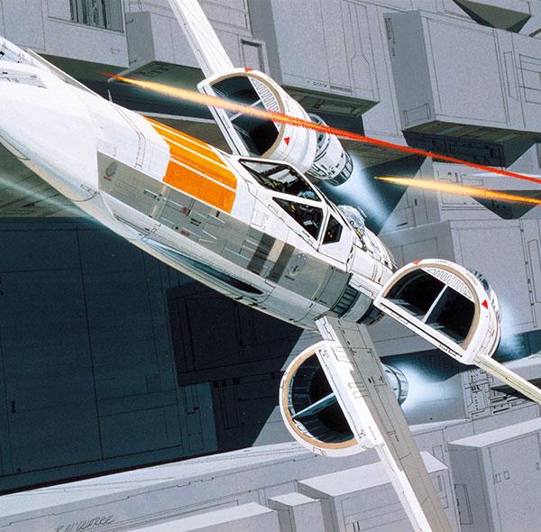 Komar Fototapete Star Wars Raumschiffe